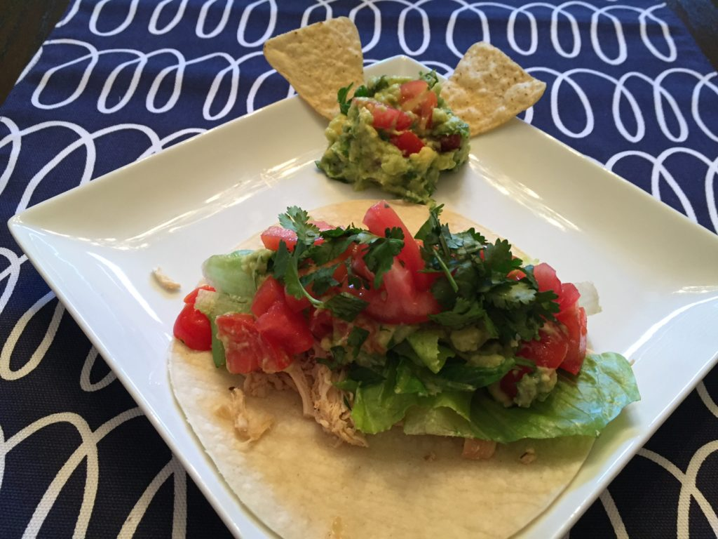 Slow Cooker Chicken Tacos & Homemade Guacamole