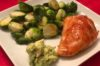 Frank's Baked Chicken with Sautéed Brussel Sprouts